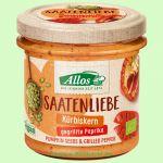 Saatenliebe Kuerbiskerne gegrillte Paprika - Pflanzlicher Brotaufstrich (Allos)