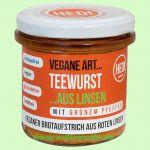 Teewurst mit grünem Pfeffer aus Linsen (Hedi)