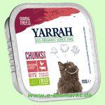 Katzenfutter Bröckchen Huhn und Rind (Yarrah)