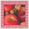 Serviette Motiv Äpfel & Nüsse (Venceremos)