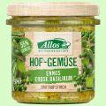 Hofgemüse Enno`s Erbse Basilikum - pflanzlicher Bio-Brotaufstrich (Allos)